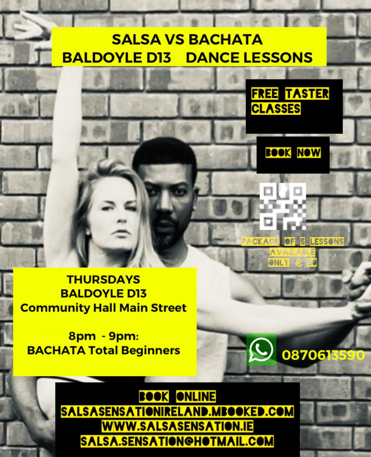 mBooked.com, Thursdays   Bachata Total Beginners   5 weeks Course   Baldoyle D13, Baldoyle Dublin 13, Salsa Sensation Ireland