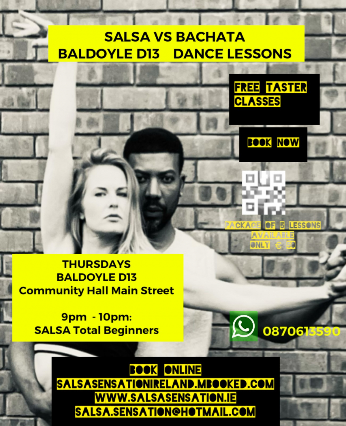 mBooked.com, Thursdays | Salsa Total Beginners | 5 weeks Course | Baldoyle D13, Baldoyle Dublin 13, Salsa Sensation Ireland