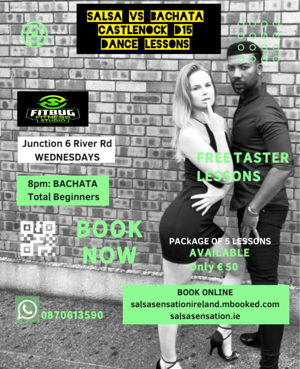mBooked.com, Wednesdays | Bachata Total Beginners | 5 weeks Course | Castlenock D15, Castleknock, Dublin 15, Salsa Sensation Ireland