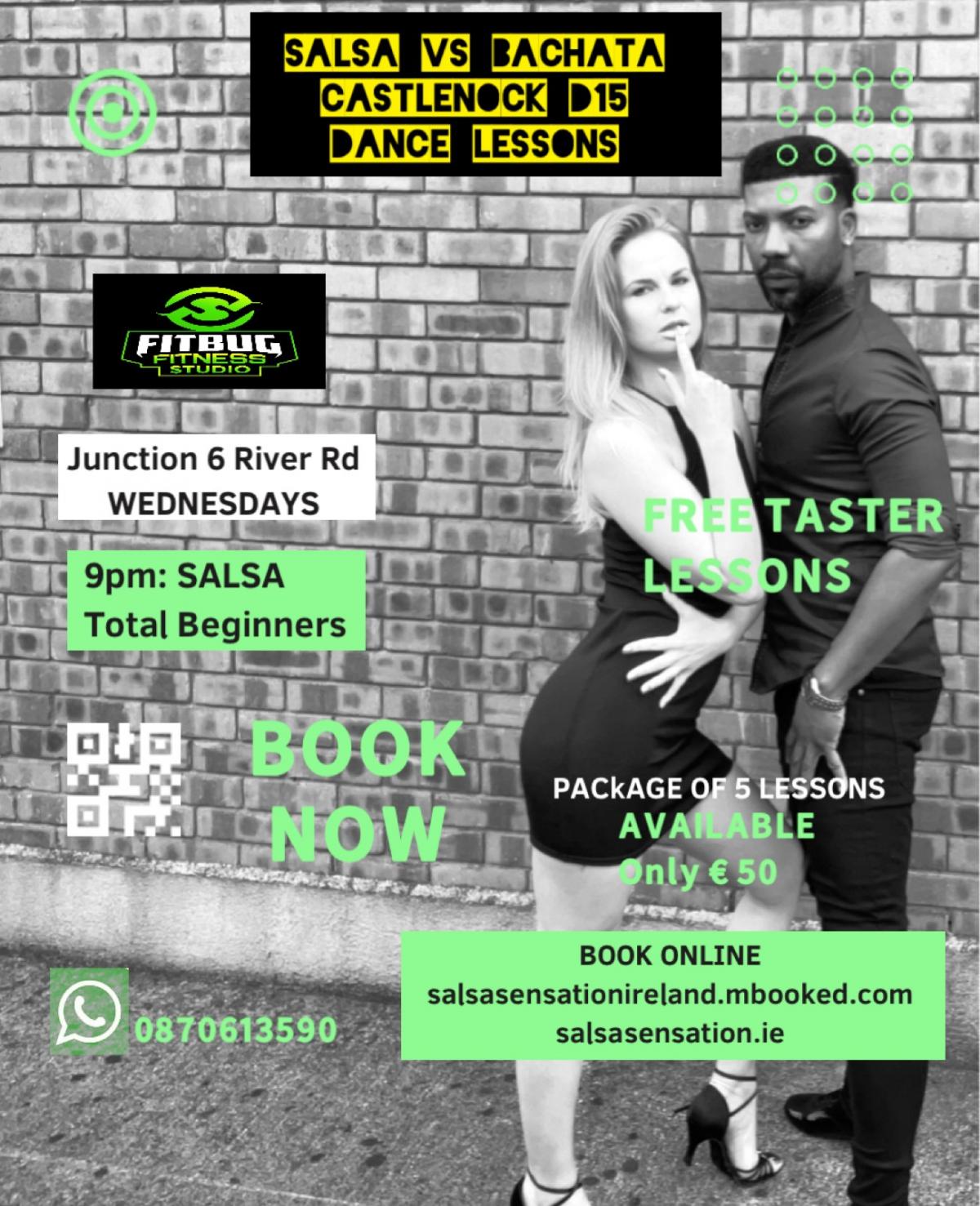 mBooked.com, Wednesdays | Salsa Total Beginners | 5 weeks Course | Castleknock D15, Castleknock, Dublin 15, Salsa Sensation Ireland